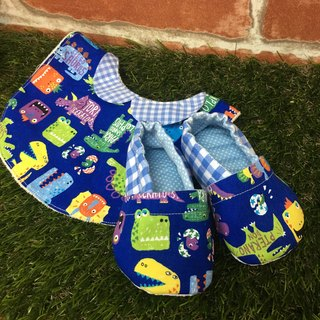 Dinosaur Miriam Gift Box - toddler shoes + bibs