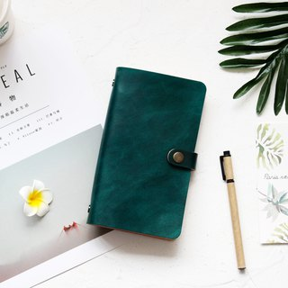 Dark green uniform A6 A5 A7 loose-leaf notebook handmade leather notepad stationery free lettering