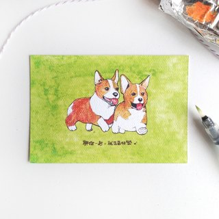 【Animal Series】Corgi Bros Postcard