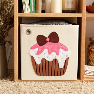 American kaikai & ash Toy Storage Box - Vanilla Strawberry Cup Cake