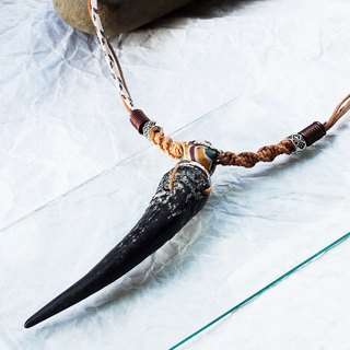 Herbivorous Hunter Herbivore Hunter Color Silk Goat Horn Necklace