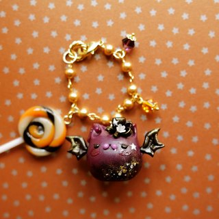 Sweet Dream ☆ ☆ shining star bat Halloween bag cat lanyards / key ring gift exchange