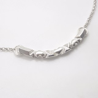 R7-925 Sterling Silver Necklace - Help you design letters + numbers