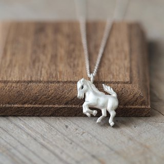 Horse 馬 Necklace Silver925