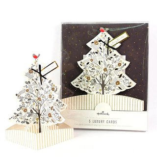 Three-dimensional Christmas tree Christmas box card 5 into [Hallmark-card Christmas series]