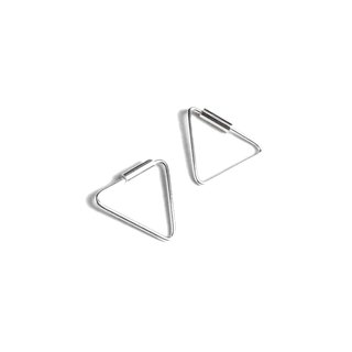Simple Triangle sterling silver earrings (Small)