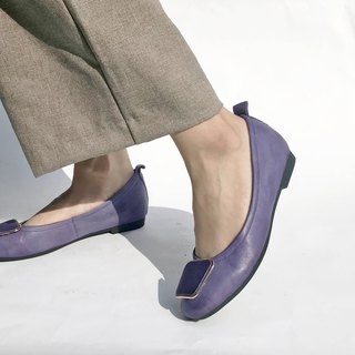 Gold square flat shoes || Lady Chatterley's lover's lover's chapter moonlight purple|| #8142