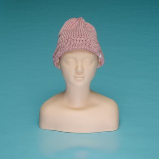over the basic ♦ plain - light powder OTB006 hand-woven wool cap