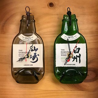 Japan limited Yamazaki / Baizhou whiskey 200ML small collection original wine bottle clock