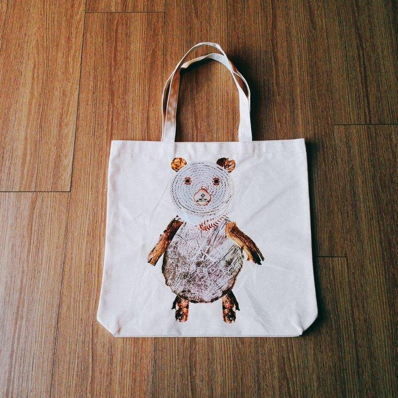 Home Hotel 原創厚版帆布袋 - 熊