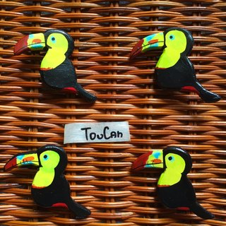 ColoURful TOucaN * cracking * Le Toucan handmade brooch pin •