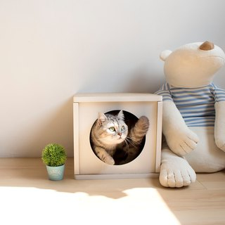 [Ange home] good pressure cat house (fresh white)