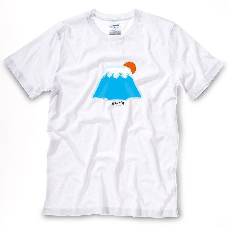 小飯糰 中性T恤 富士山 白色短T