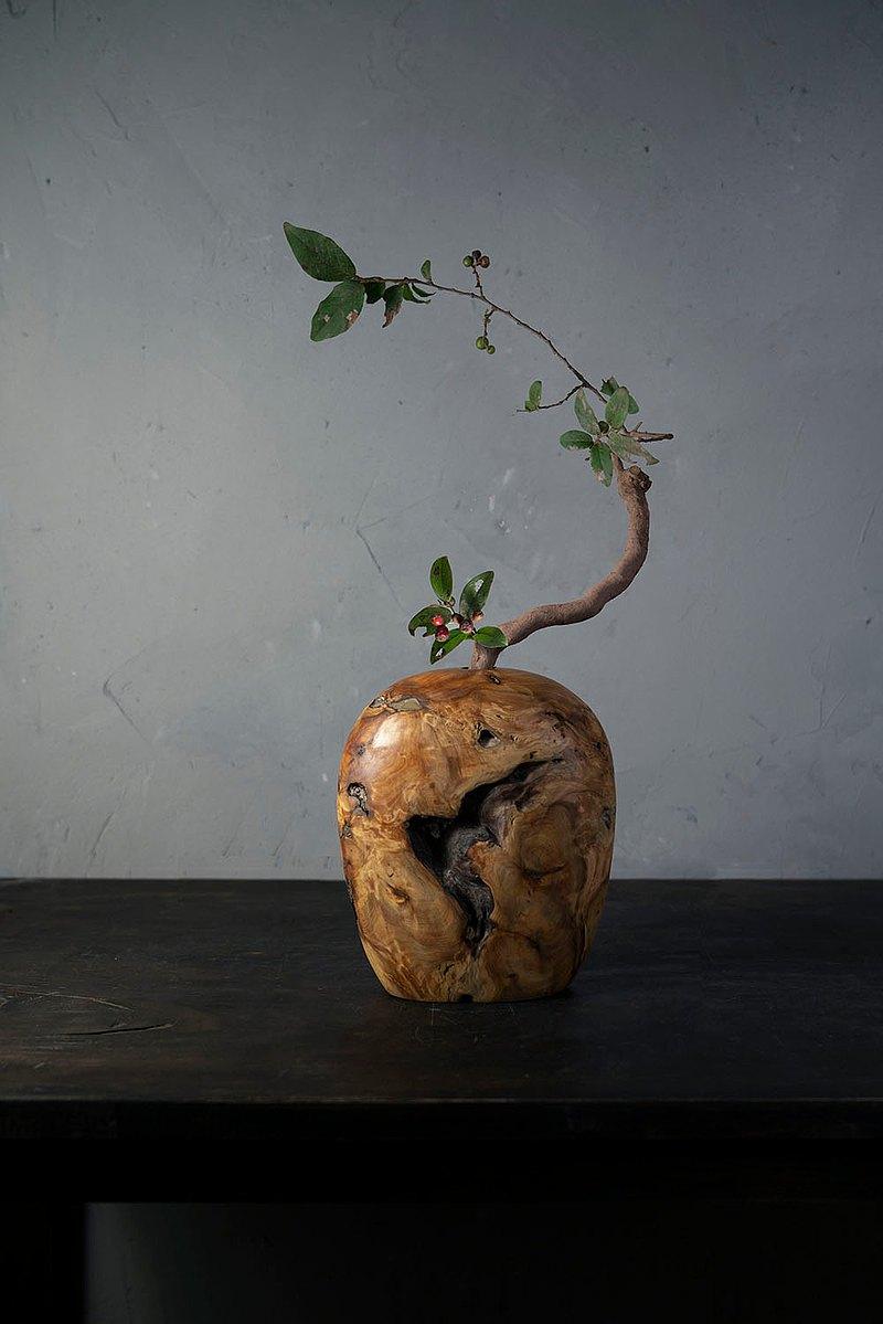 手工木製花器花瓶插花花藝擺飾047號香柏木