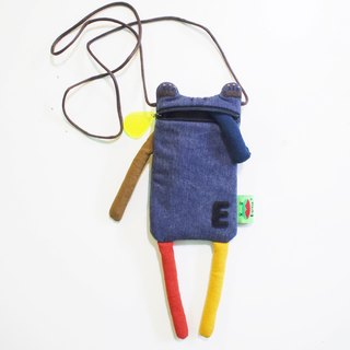 E * group washed without printing mouth water phone bag (dark blue) iphone6 ​​+. I7 + mobile phone bag frog