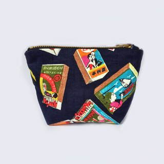 小钱包 Coin Purse Small Zipper Pouch-  Vintage  Inspired Japanese Matchbox print