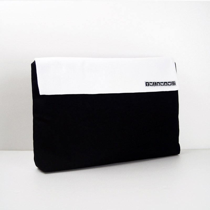 13 吋 laptop file briefcase - fashion black and white
