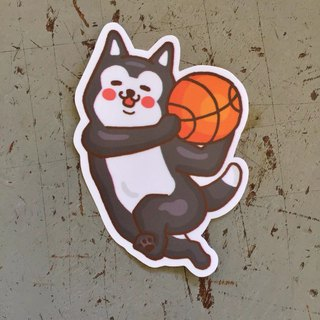 Shiqi basketball small waterproof sticker SS114
