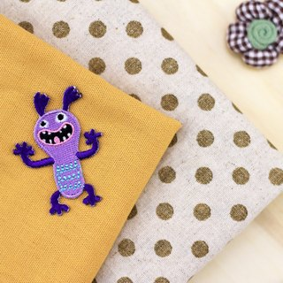 Screaming running self-adhesive embroidered cloth stickers - Monster Planet universe