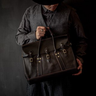 HEYOU Handmade –Well-Dressed Satchel - Full Veg-Tanned Leather 茶芯黑色款