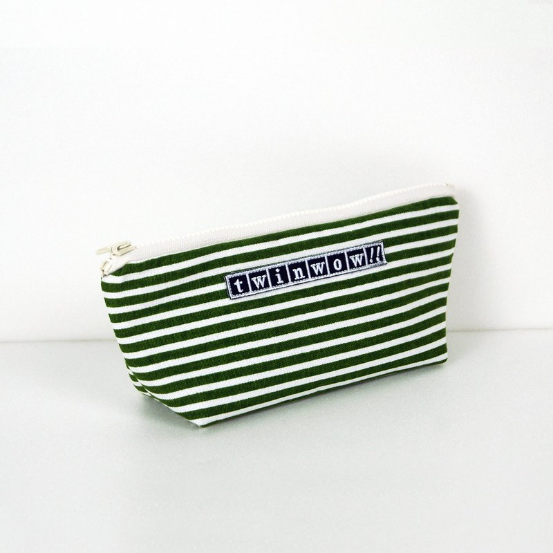 Lightweight style - detailed texture storage bag - striped green