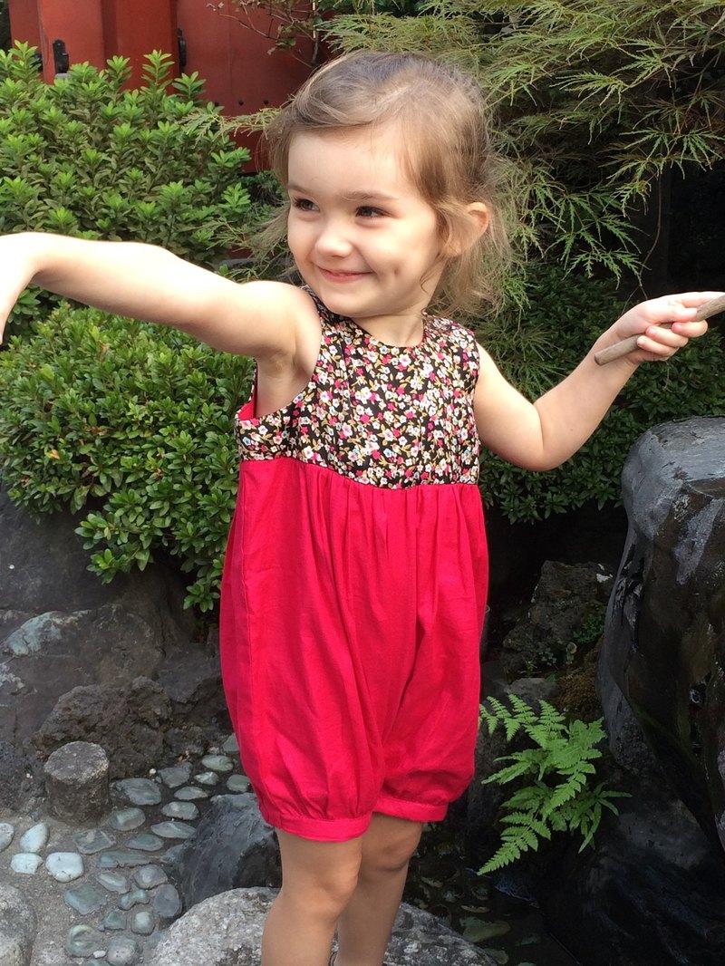 日式覆盆子寶寶連衣裙