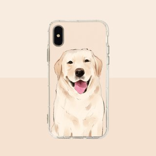 Large face Labrador embossed air shell - iPhone / Samsung, HTC.OPPO.ASUS pet phone case