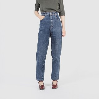 [Egg Plant Vintage] Flying Moon Snowflake Vintage High Waist Jeans