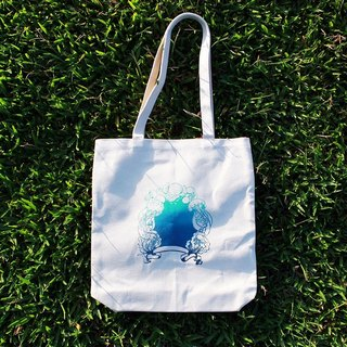 Jellyfish Mirror - Silk Print Canvas Tote Bag