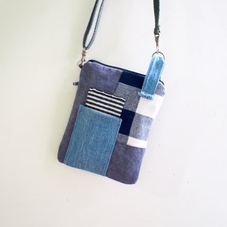 E*group square patchwork small bag gray color matching