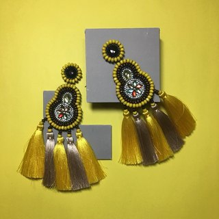 earrings : boho chic x 5th yellow l gold