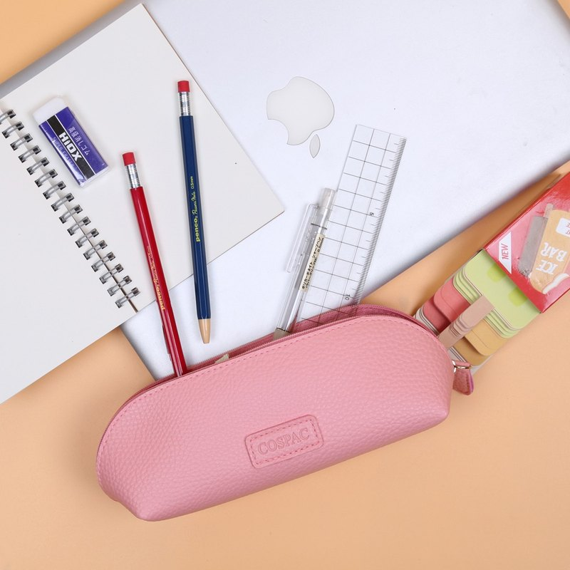 Multi color Faux Leather Round Corner Pencil Case