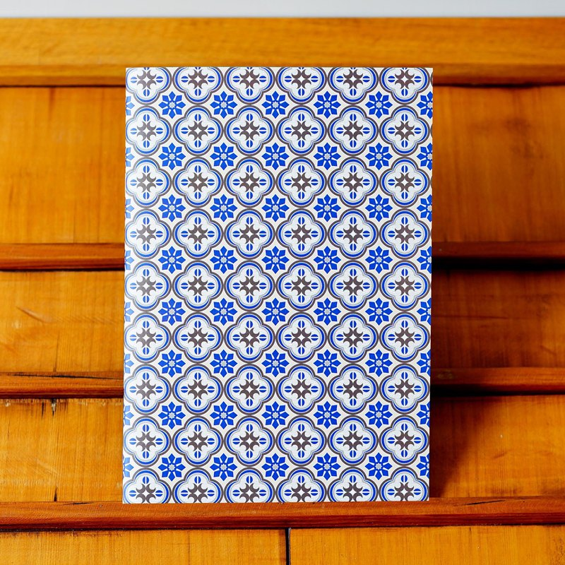 Old House Eye – Embossed Glass Notebook – Blue