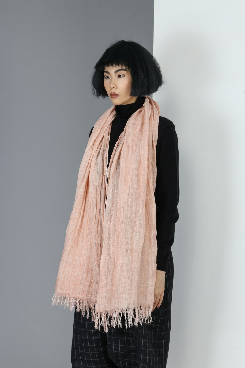 【Spot】 plain cotton and linen shawl scarf