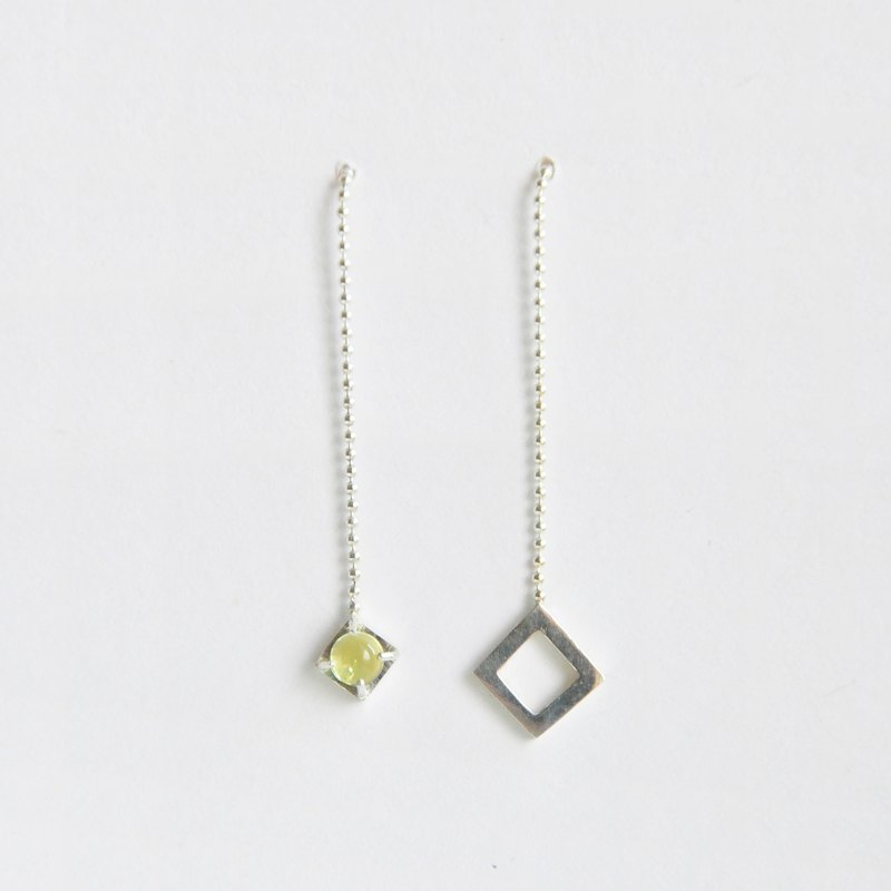 ∥Cheng Jewelry∥TAL dew night dew II lemon crystal silver ear needle earrings