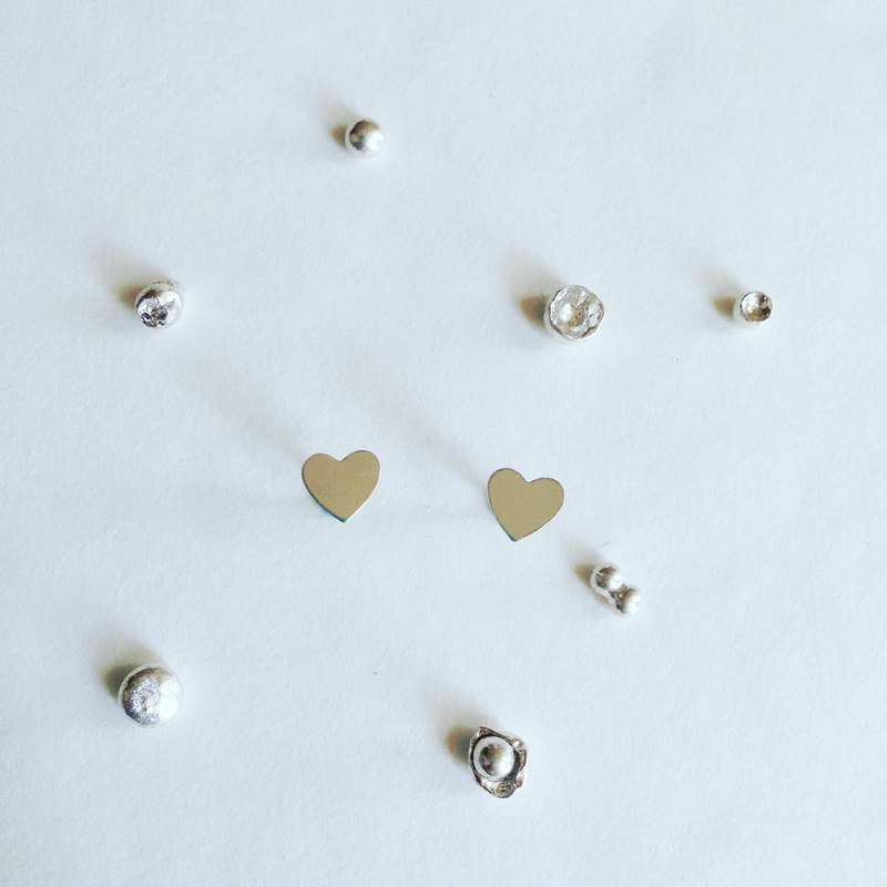 【 PURE COLLECTION 】- Simple Curve .925 silver earrings
