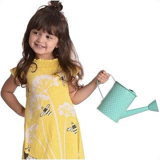 [Canadian brand] organic cotton dress / child-Bee Bee Size: 5-6Y