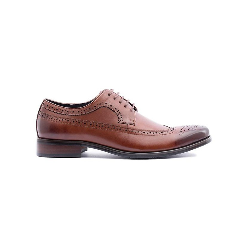 Kings Collection Genuine Leather Hendrick Oxford Shoes KV80066 Brown