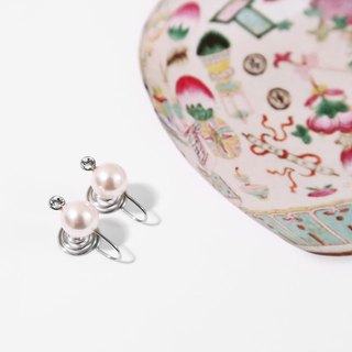 Kamcheng Sweet Series | Swarovski Crystal Pearl Stainless Steel Earrings