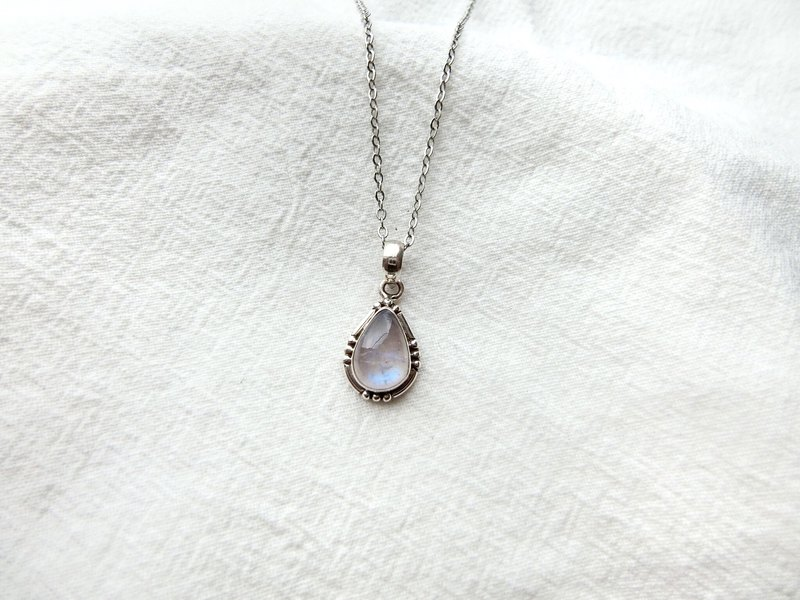 Moonstone 925 sterling silver will be simple style necklace