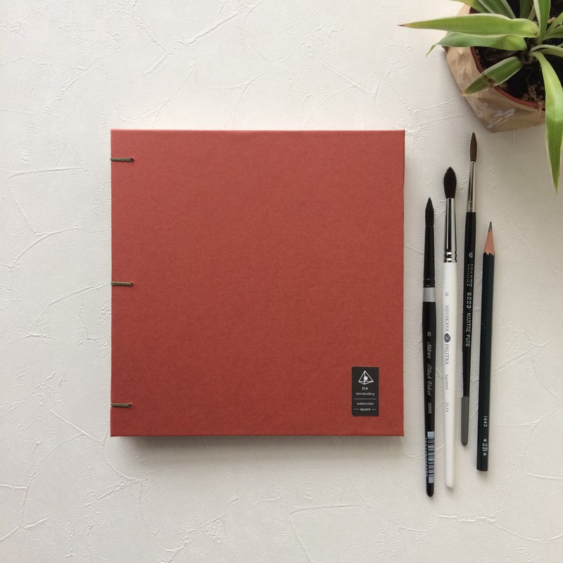 Out of Print Showcase | 190 lb. 32 open waterford | Square Portable Watercolor Sketchbook