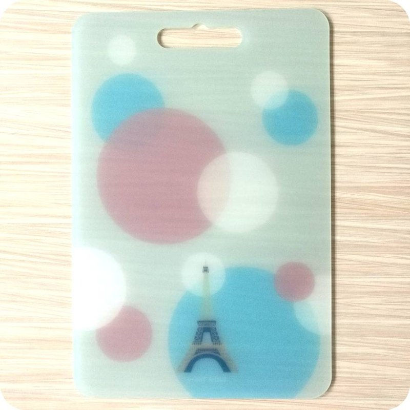 Creative chopping board plastic cutting board France Paris design kitchen kitchen supplies camping tableware Wenchuang gift