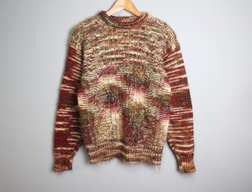 FOAK Ancient Psychedelic Planet Thick Knit Sweater