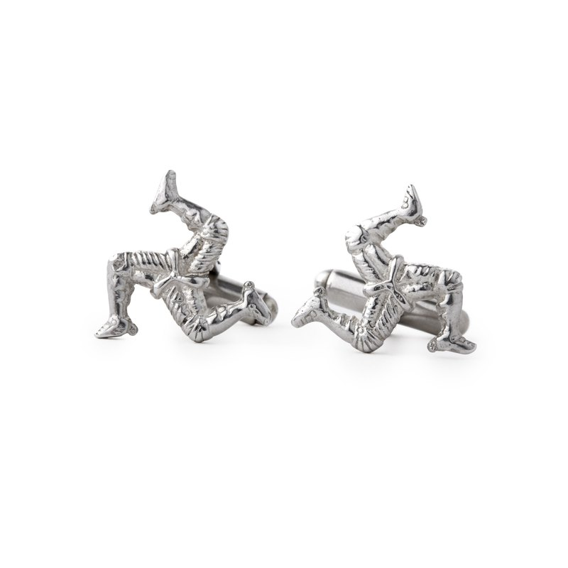 Made In UK 925 Sterling Silver Cufflinks Isle of Man classic gentleman