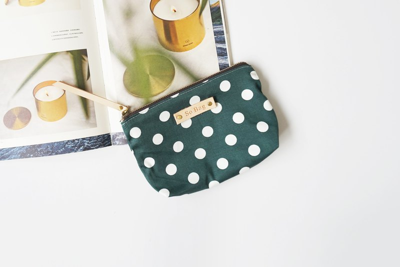 sobag original cotton coin purse Korean version cute polka dot card bag handmade wallet sundries bag coin bag