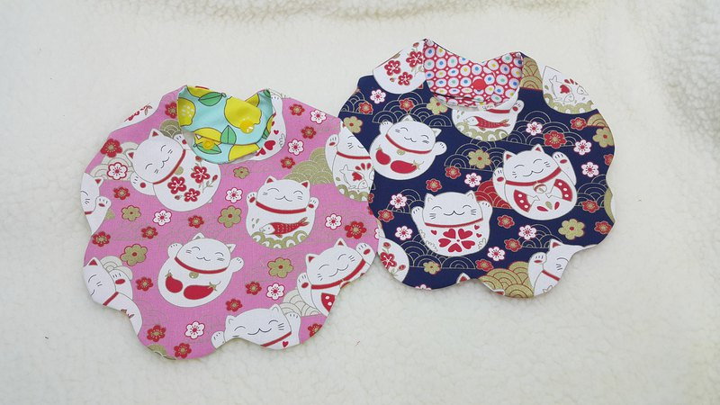 Cat cloud clouds button baby pocket bibs