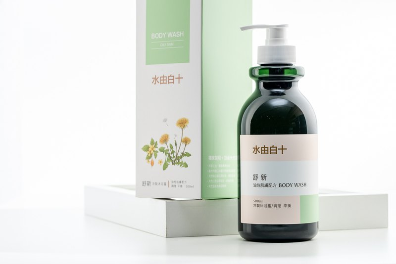 Water by Bai Shi Shu Xin cold shower gel (oily skin formula) 500ml