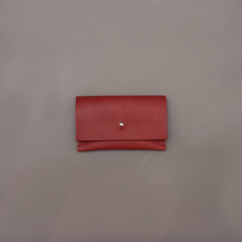 Business card holder leather / jujube vegetable tanned leather / handmade leather