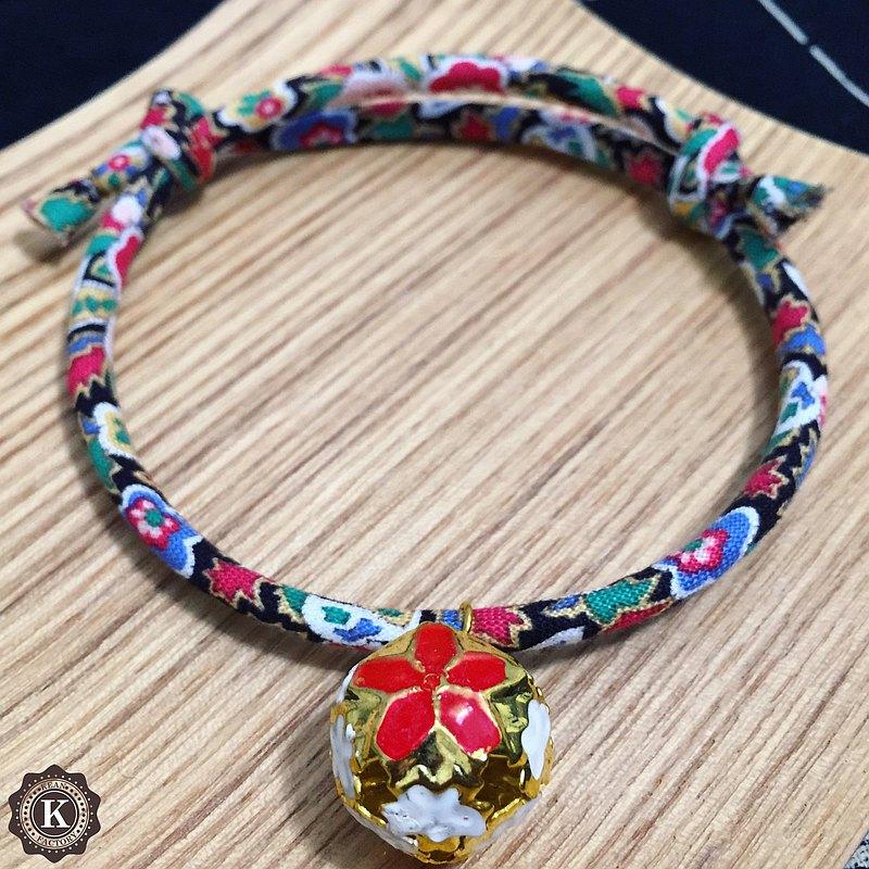 貓狗和風項圈 首輪-可調整長短 日系藍黑色碎花款