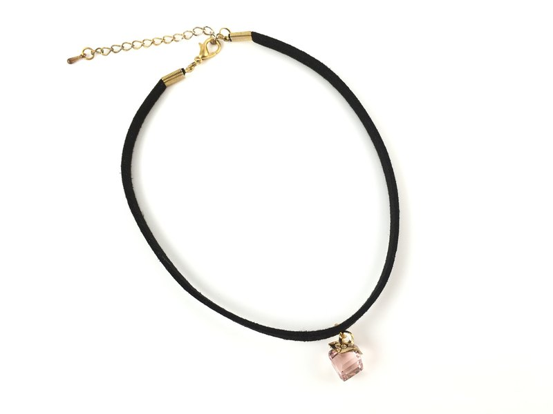 Pink crystal necklace gift